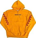 5818 VANS バンズ 限定 パーカー イエロー レッドチェッカー CHECKERRED WARPED TOUR (XL) [並行輸入品]