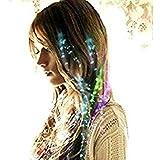 Amazon.co.jp【 光る エクステ ウィッグ 】 LED 4色 カラー 髪 留め 式 クラブ ライブ パーティ おしゃれ MI-LEXTE