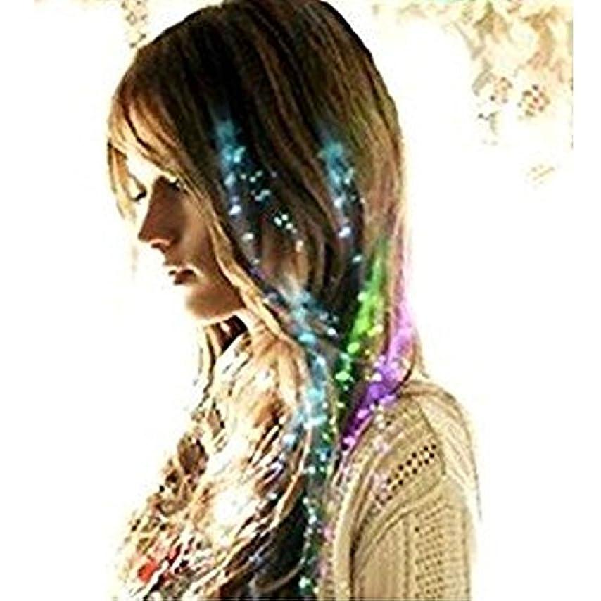 医師プランテーション刺す【 光る エクステ ウィッグ 】 LED 4色 カラー 髪 留め 式 クラブ ライブ パーティ おしゃれ MI-LEXTE