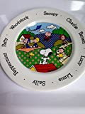 RARE Peanuts Gang &Snoopy Ceramic Baby or Child's Plate - Made in England