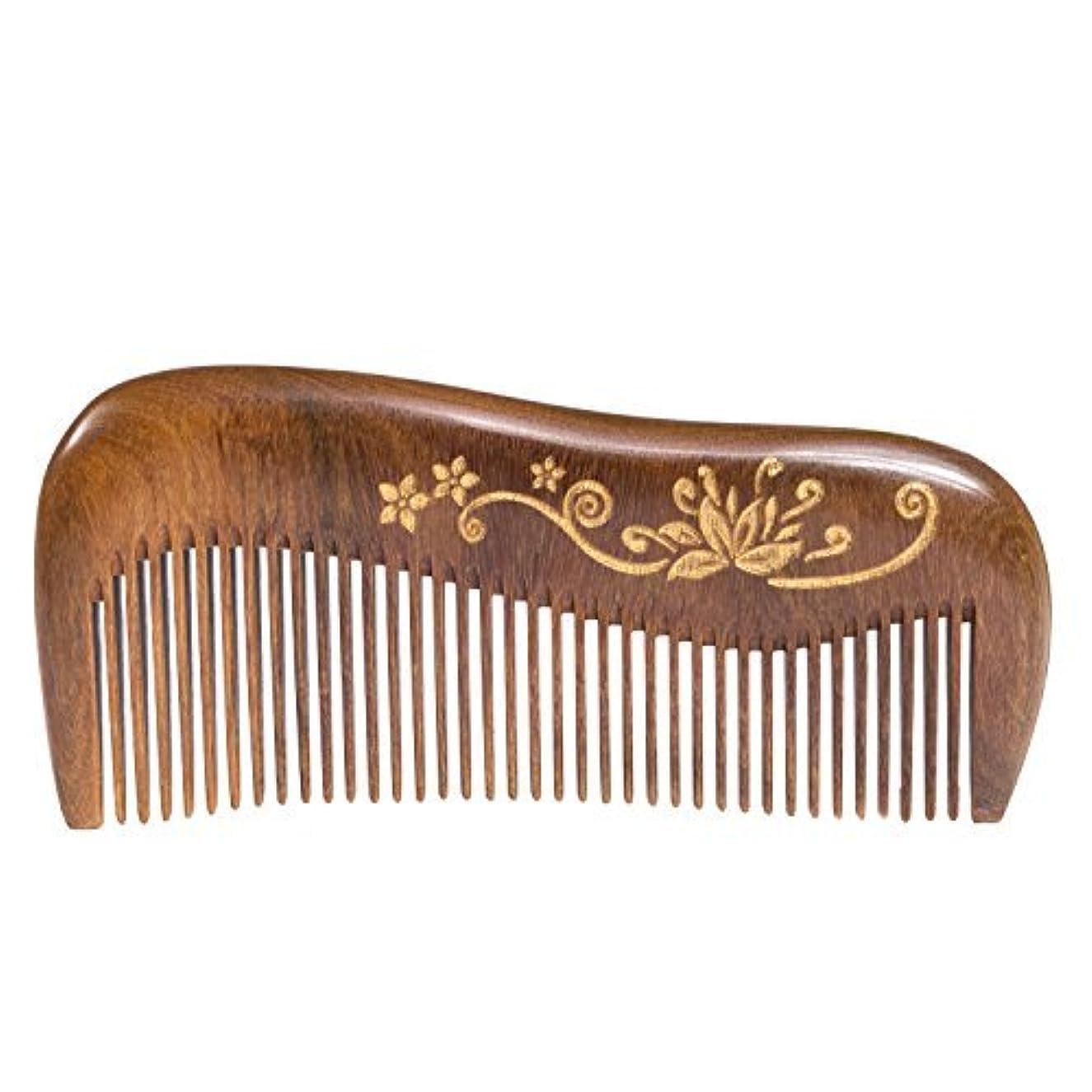 宣言ピット言い聞かせるBreezelike Wooden Hair Comb - Fine Tooth Wood Comb for Women - No Static Natural Detangling Sandalwood Comb [並行輸入品]