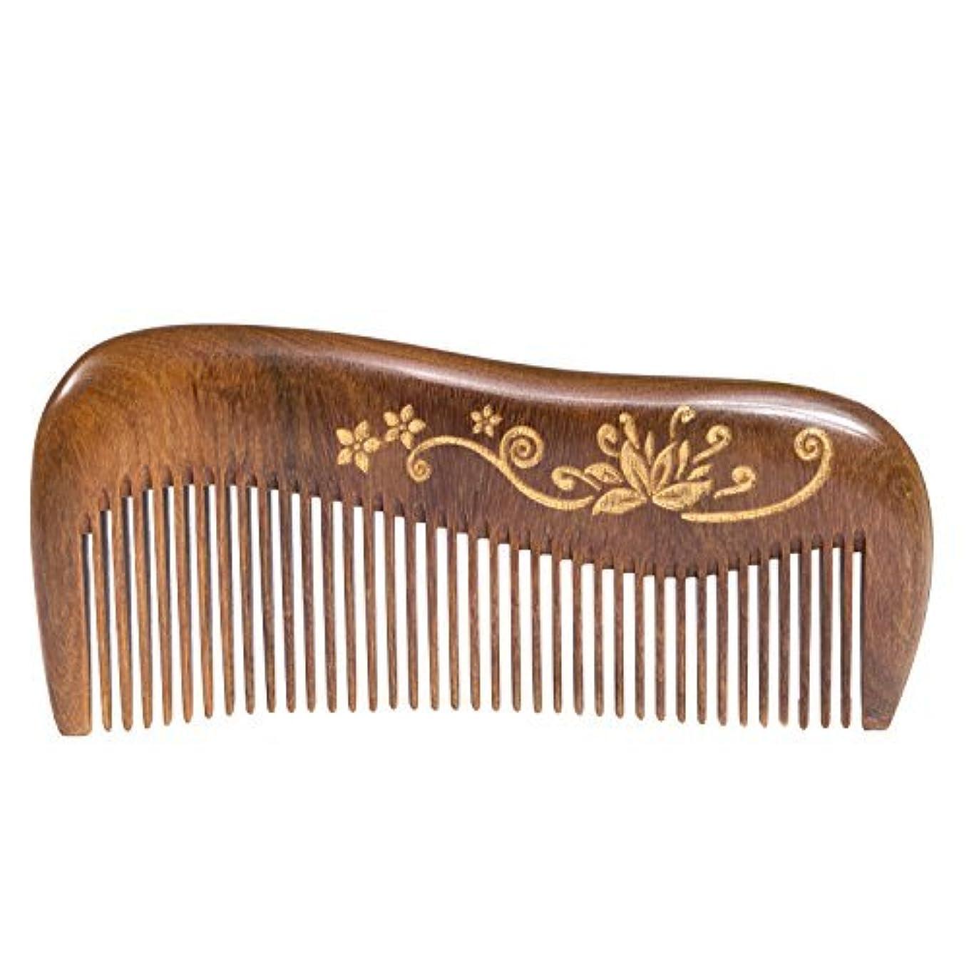 キャップ甥Breezelike Wooden Hair Comb - Fine Tooth Wood Comb for Women - No Static Natural Detangling Sandalwood Comb [並行輸入品]