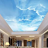 Mingld 3D壁画壁画空白い雲カスタム3D写真壁紙自然風景壁天井壁画壁紙壁紙家の装飾-400X280Cm