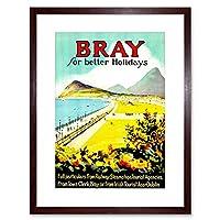 Travel Tourism Bray Ireland Beach Resort Sea Promenade Framed Wall Art Print 旅行観光アイルランドビーチリゾート壁