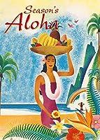 Pacifica Island Art ハワイアンクリスマスカードセット(12) ハワイアンシーズンアロハ