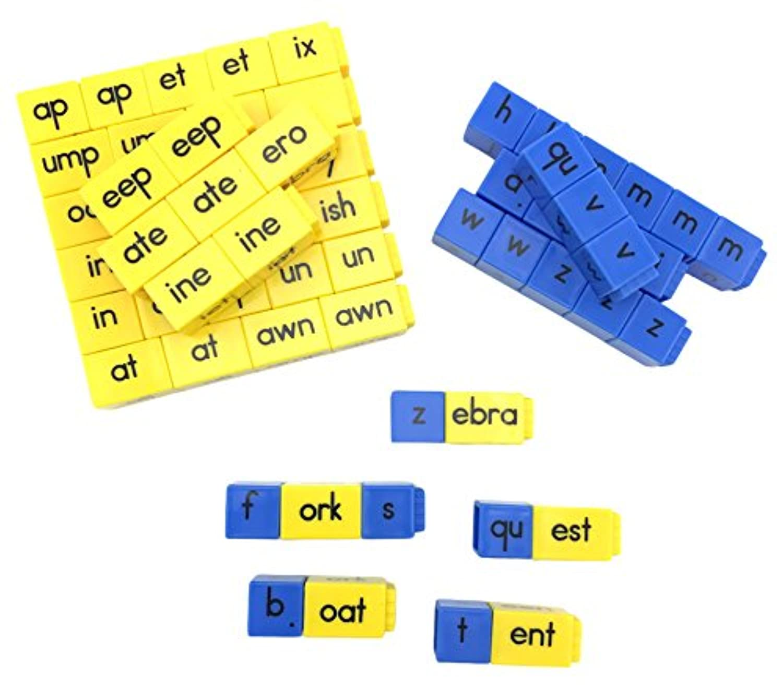 ETA hand2mind Reading Rods – 初期Consonant文字とWord Families Linking Cubes