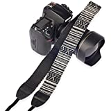 Eggsnow (エグスノー) カメラストラップ 調節可能 コットン キヤノン ニコン等全てデジタル一眼レフカメラ用