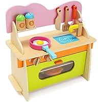 Hitsan 361736 CMカラフルキッチン木製木製PretendガスストーブおもちゃモデルSet for Kids GiftsホームOne Piece