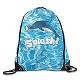 パイナップル 速乾ジムサック Splash イルカ 海豚 鯆 アニマル 可愛い おしゃれ 体操着袋