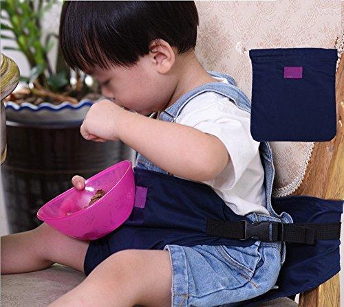 「HanSi」ベビーチェアベルト 椅子用 固定帯 椅子ベルト ベビー用品 持ち運び便利 お子さまの安全を守る しっかりサポートで安心ベビーチェアベルト 6ヶ月から3歳まで ブルー