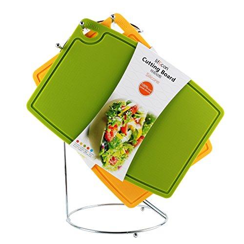 Liflicon リフリカン シートまな板 シリコン 抗菌 耐熱 滑りにくい 食洗機対応 32×23×厚さ0.5cm (グリーン)