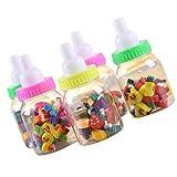 ノーブランド品 2ボトル 子供の文房具 50pcs /  哺乳瓶 鳥 かわいい ゴム 消しゴム ギフト