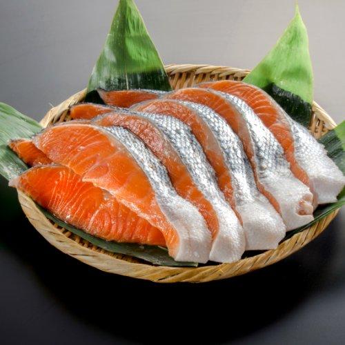 【小針水産】銀鮭(サケ) 切り身 大切り10切(5切真空パックx2)
