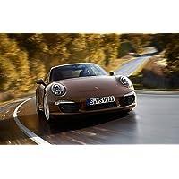絵画風 壁紙ポスター (はがせるシール式) ポルシェ 911 GT3 991型 2014年 ブルゴーニュ キャラクロ P991-011W1 (ワイド版 921mm×576mm) 建築用壁紙+耐候性塗料