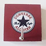 CONVERSE ALL STAR Agilityバスルーム壁ハンガー帽子バッグキー粘着木製フックヴィンテージConverse All Starの写真