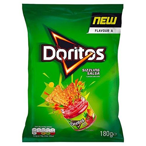 Doritos Sizzling Salsa Tortilla Chips 180g - (Doritos) 焼けるように暑いサルサトルティーヤチップスの180グラム [並行輸入品]