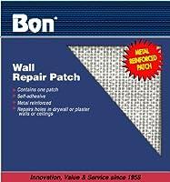 Bon 15-345 8インチx 8インチ自己接着壁修理パッチ、1パック