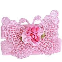 GUAngqi Baby Girl Three-Piece Set Butterfly Headband Headdress Foot Flower Photo Prop by Gu Angqi