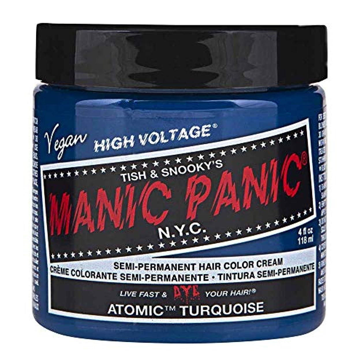 歯科の金貸し相談MANIC PANIC Cream Formula Semi-Permanent Hair Color - Atomic Turquoise