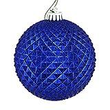 Best Vickermanクリスマスツリー - Vickerman 529867-2.75インチ コバルトブルー デュリアン グリッターボール クリスマスツリーオーナメント (12個パック) (N188422D) Review