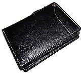 欲しかったベストバランス! 牛革 折り財布 カードスライダー付 [ IGB ] 誕生日プレゼント 人気ブランド (ブラック)