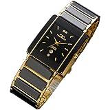 [テクノス]テクノス TECHNOS セラミック メンズ腕時計 黒 ブラック ゴールド メタル TAM530GB [国内正規品]