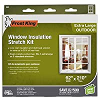 (62-Inch by 210-Inch) - Frost King V95H Stretch Window Kit 160cm by 530cm