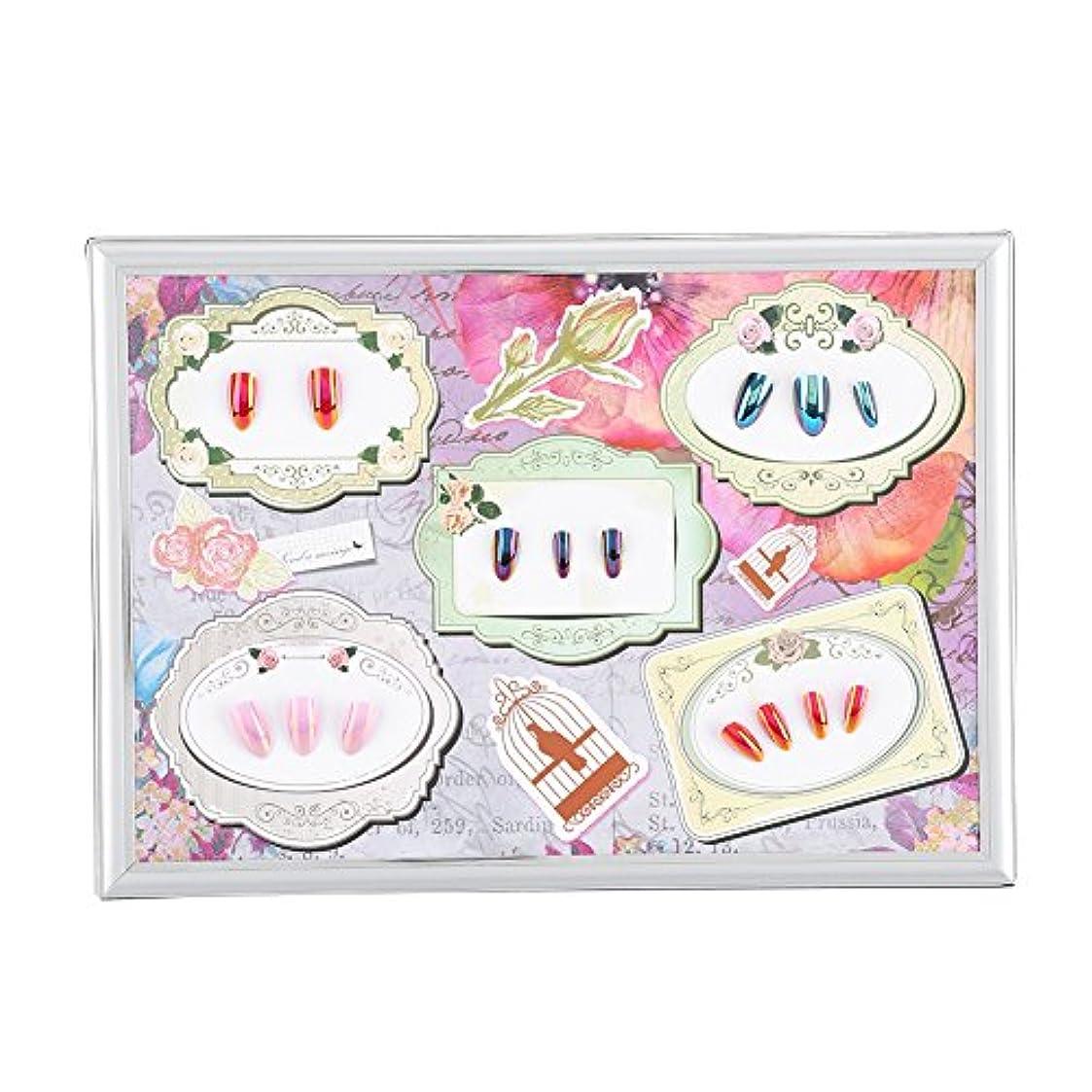 櫛くつろぎ布ネイルカラー ディスプレイ チャート マニキュア フレームボードを示すゲルカラーディスプレイカードネイルアート(02)