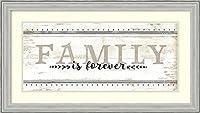 アートフレーム印刷' Family is Forever ' by Jennifer Pugh Size: 34 x 19 (Approx), Matted ホワイト 4094876