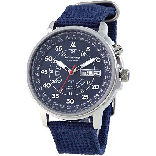 [ラドウェザー]ソーラー電波時計 100m防水 パーペチュアルカレンダー ミリタリー腕時計 メンズ時計