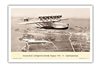 Dornier Do-X - 1931年、バージニア州ノーフォークの飛行機で - ドイツの長距離飛行船 - によって作成された クライド・サンダーランド - アートポスター - 31cm x 46cm