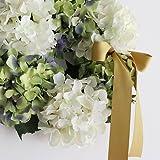 【Blooming&me】フラワーデザイナーおすすめ おしゃれ度UP! 人気のインテリア オリジナル ハンドメイドリース 壁掛け 玄関 スパークリング 紫陽花 あじさいリース 選べる4色 (グリーン) [並行輸入品]