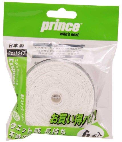 Prince(プリンス) テニス グリップ ExspeedII(6本入り) ホワイト  OG006