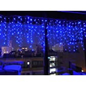 高輝度LED194球 ★ 194 LED つらら ★ クリスマス イルミネーション イルミ ライト 照明 ツララ 青(ブルー)