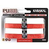Karakal テニスラケット 交換用グリップ デュオ スーパーPU 2個パック ホワイト/レッド