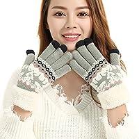ZOZOE Winter Knit Gloves,Touchscreen Gloves,Running Gloves,Extra-Warm Fleece Thicken, Elastic Cuff Anti-Slip Thermal Soft,Gloves Women Touchscreen