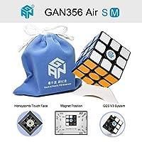 Gobus Ganspuzzle GAN356エアーSMマジックキューブ3x3x3スピードキューブプロ用コンペティションパズルキューブ(1キューブスタンドと1キューブバッグ付き)(GAN 356 Air SM)