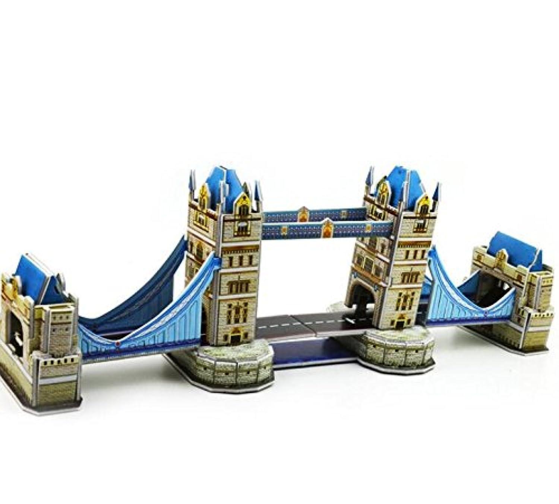 HuaQingPiJu-JP クリエイティブ教育3Dパズルアーリーラーニングシェイプカラー動物玩具ファンタスティックギフト子供向け(ロンドンブリッジ)