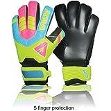 Aviataライトクラブサッカー手袋( pink-yellowサイズ45指保存