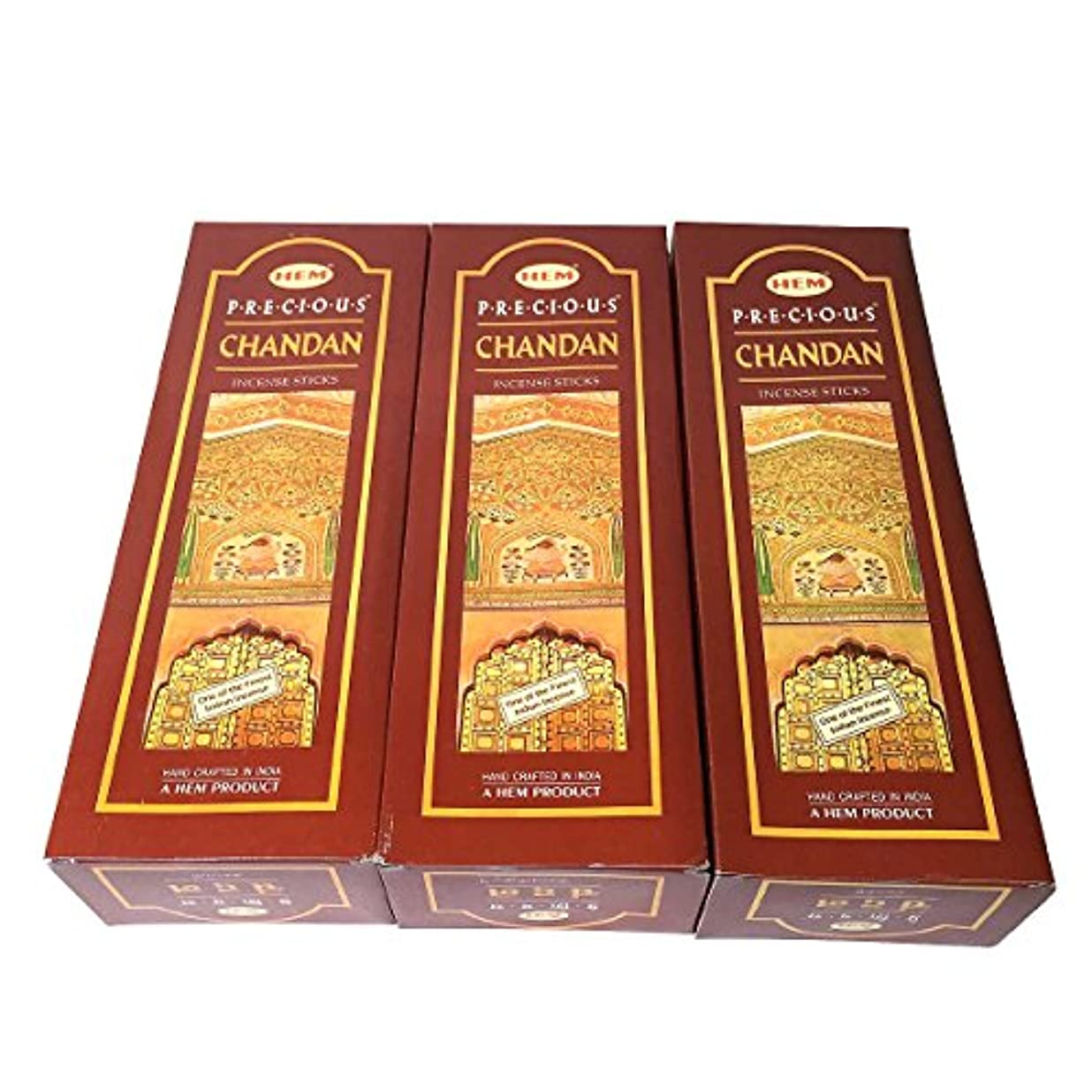 排出逸脱足首チャンダン香 スティック 3BOX(18箱) / HEM CHANDAN / インド香 お香 [並行輸入品]