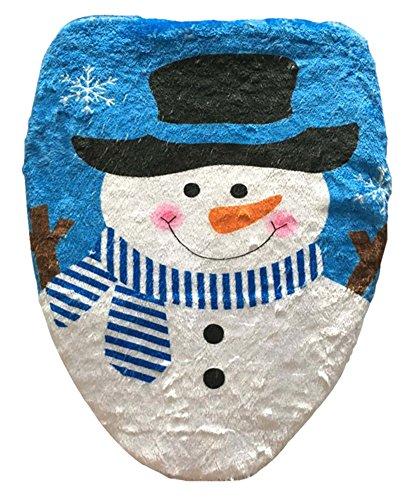クリスマス 飾り クリスマスデコレーション トイレ用品 便器ふたカバー 超可愛い 雪だるま柄 トイレ...