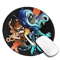 Splatoon マウスパッド 丸型 ゲーミング オフィス最適 防水 滑り止め 耐久性が良いゲーム おしゃれ,オフィス サイバーカフェなど ゲーミング マウスパッド 水洗い 丸い デスクマット 滑り止め 柔軟ゴム製裏面 2 PCS