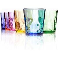 【日本製】400ml プレミアム グラス - 6個セット - 割れない コップ - トライタン BPA フリー プラスチック