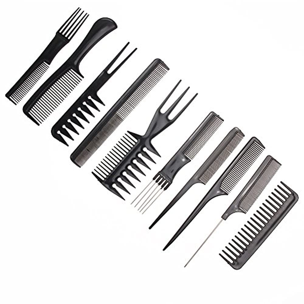 祖先蜂効率的10pcs/Set Professional Hair Brush Comb Salon Barber Anti-static Hair Combs Hairbrush Hairdressing Combs Hair Care...