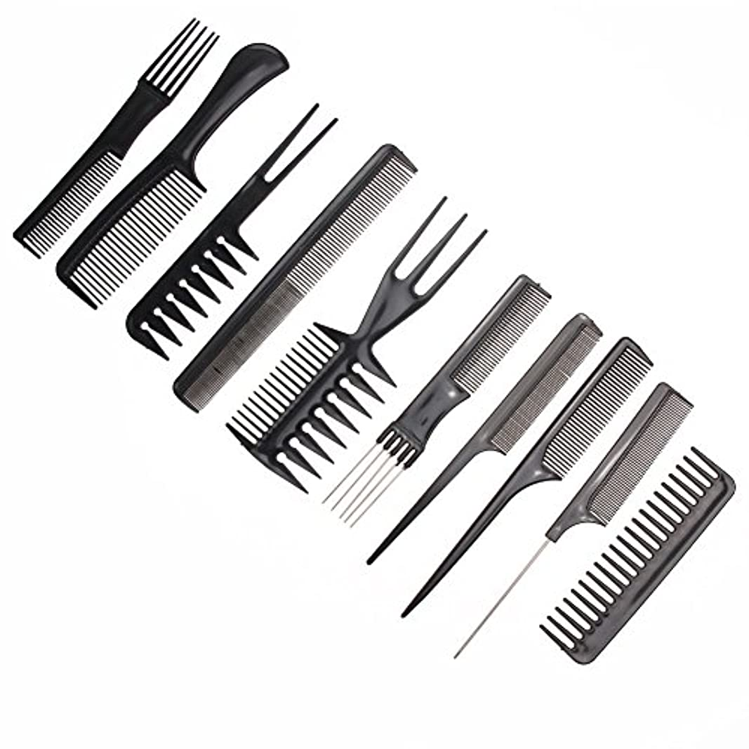 失効透けるたるみ10pcs/Set Professional Hair Brush Comb Salon Barber Anti-static Hair Combs Hairbrush Hairdressing Combs Hair Care...