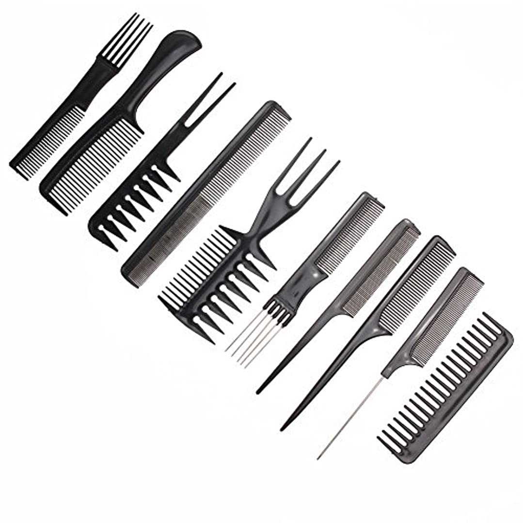 め言葉泥だらけ注意10pcs/Set Professional Hair Brush Comb Salon Barber Anti-static Hair Combs Hairbrush Hairdressing Combs Hair Care...
