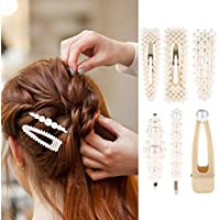 Pearl Hair Clips, Womdee Pearl Barrette One-Word Hairpin Decorative Fashion Hairpins Accessories Styling Tools Accessories For Party Wedding Daily Wearing For Thick Thin Hair