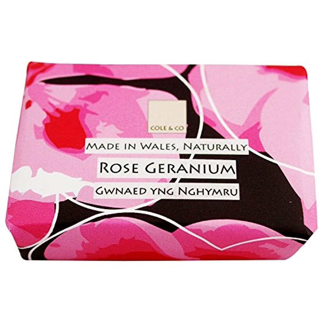 腫瘍歩道女優コール&Coはゼラニウム石鹸80グラムのバラ (Cole & Co) (x2) - Cole & Co Rose Geranium Soap 80g (Pack of 2) [並行輸入品]