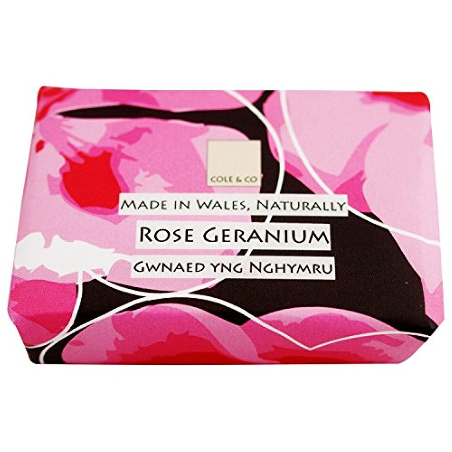イヤホン黙年次コール&Coはゼラニウム石鹸80グラムのバラ (Cole & Co) (x2) - Cole & Co Rose Geranium Soap 80g (Pack of 2) [並行輸入品]