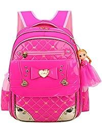 小学生 女の子 リュックWraifa 子供リュック おしゃれ防水軽量大容量 多機能キッズ バッグ アウトドア通学遠足 かわいい人形おもちゃ付き 入学お祝いギフト